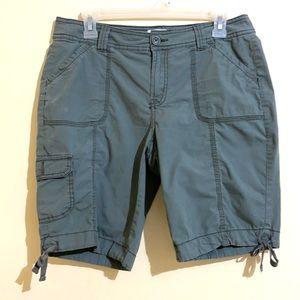 St Johns Bay Olive Cotton Blend Cargo Shorts 8P